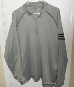 Adidas Golf Jacket Gray Pull Over Sz XL