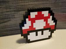 Lego Nintendo Super Mario Magic Mushroom 1 UP Custom Moc Red
