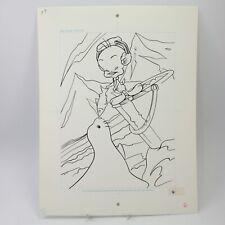 Tweety original artwork book illustration pen & ink vintage cartoon #43