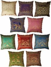 10 Pc Indian Silk Cushion Cover Sofa Cushion Cover Pillow Cover Brocade Cushion