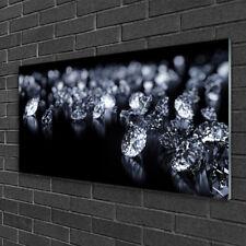 Glasbilder 100x50 Wandbild Druck auf Glas Diamanten Kunst