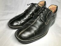 Men's Johnston and Murphy Black Leather Bicycle Oxfords Shoes EUC Size 9 M