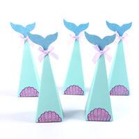 10 Pcs Mermaid Shape Candy Boxes Kids Birthday Wedding Party DIY Decoration Gift