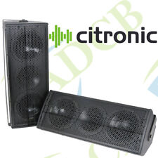 "CITRONIC CX-1608 BLACK SPEAKERS 2 X 6.5"" 160W FULL RANGE 2-WAY ENCLOSURE SET"