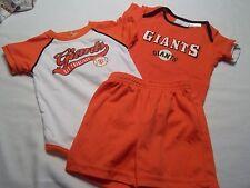 San Francisco SF Giants MLB Baseball Infant Boys Baby 6-9 Months Shorts Shirts