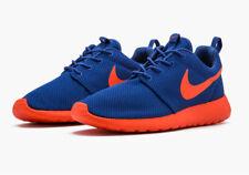 Nike Roshe Run Dark Royal Blue Orange Volt Knicks Men's Size 10 511881-483 New