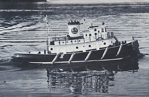 Giant Scale Lazy Allen Tug Boat R/C Model Ship Plans,Templates, Instructions 48""