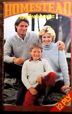 CLECKHEATON FAMILY KNITWEAR 12 PLY knitting pattern book  SIZES 80-112 CM.