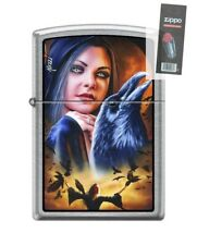 Zippo 3533 Mazzi Morrigan Woman With Ravens Lighter + FLINT PACK