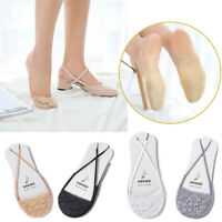 Women Cotton Lace Half Feet Invisible Liner No Show Low Cut Sling Short Socks