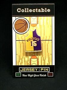Los Angeles Lakers Metta World Peace jersey lapel pin-SHOWTIME Collectable