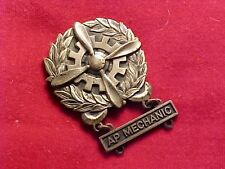 ORIGINAL WWII USAAF AP MECHANIC QUALIFICATION BADGE 4 BLADED PROP / STERLING