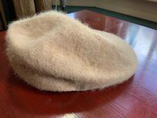 VTG KANGOL Cabbie Hat Men O/S Camel WOOL Flat Newsboy Gatsby Driving Golf Cap