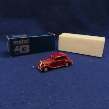 WESTERN MODELS PROTOTYPE METAL 43 1045 BMW 326 SALOON MAROON ORIGINAL BOX LOOK!