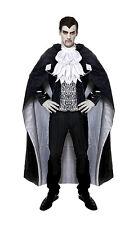 Hommes Dracula Costume & Longue Cape Noire Vampire Costume Déguisement Halloween Neuf