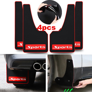 Car Truck Mud Flaps Sports Rubber Splash Guards 4 Piece Front Rear Full Set