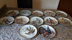 Franklin Mint Haviland Limoges Set Of 12 Gamebirds of the World Plates Basil Ede
