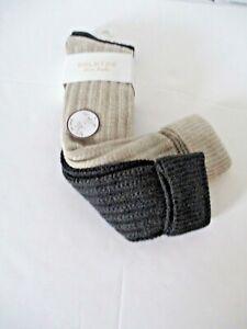 GoldToe Womens 2 pair knee high socks size 9-11 tan and charcoal