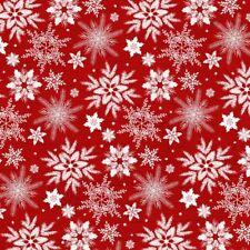 Holiday Homecoming Schneeflocken Rot Patchworkstoff Stoff Weihnachten Patchwork