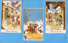 BONNE ANNEE lot 3 cartes postales vintage ENFANTS Superbes dessins TOP