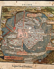 Old Map- Mexico City - B. Bordone - 1528