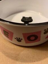 Whisker City MEOW Cat Bowl Plate Saucer Ceramic Dish Dishwasher Microwave Safe