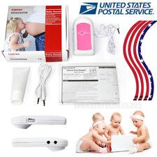 USA Fetal Heart Rate Baby Sound Pink Pocket Fetal Doppler free gel+earphone FDA
