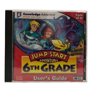 Vintage 1998 Knowledge Adventure JUMP START Adventures 6TH GRADE PC CD-ROM