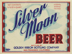 Vintage Silver Moon Beer Reproduction Metal Sign FREE SHIPPING Bar Decor