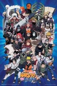 """Naruto Characters Laminated Poster - 24.5"""" x 36.5"""""""