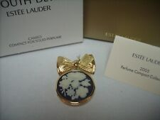 "Estee Lauder Solid Perfume Compact ""2005 Cameo"" Pin Brooch MIB"