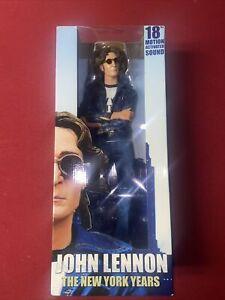 "NECA JOHN LENNON 18"" FIGURE NEW YORK YEARS NEW IN BOX SEALED"