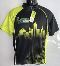 FIVEBORO 2020 Bike Tour New York PRIMAL Cycling Jersey ~ Size XL ~ NWT Full Zip