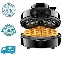 New Black Pour Volcano Belgian Waffle Maker Nonstick Dessert Cook Iron Machine