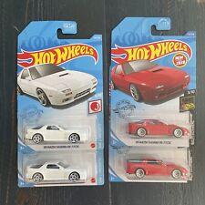 2021-20 '89 Mazda Savanna Rx-7 FC3S Lot of 4  (New White & '20 Red)