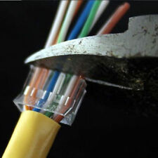 50 X Pcs RJ45 8p8c Network Cable Cat6 Shielded Modular Connector Plug