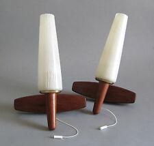2x Teak Wandleuchte 50er 60er Jahre Mid Century Design Lounge Leuchte Lampe