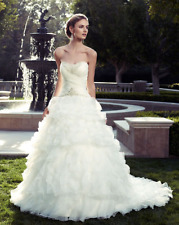 A-Line Wedding Dress Casablanca 2078 Strapless Sweetheart Ivory Size 8 new