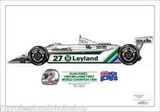 Alan Jones ltd.ed. of 27 only signed art print- 1980 Williams FW07