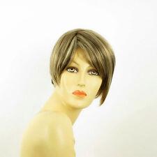 Perruque femme courte blond clair méché cuivré chocolat  ALEXANDRA 15613H4