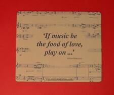 ' If Music Be ' Mouse Mat Teacher Student Musician Gift