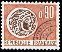 "FRANCE PREOBLITERE TIMBRE STAMP N°133 "" MONNAIE GAULOISE 90c "" NEUF x TB"