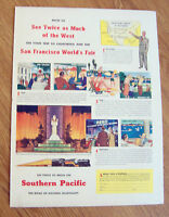 1940 SP Southern Pacific Railroad Ad Trip to San Francisco World's Fair