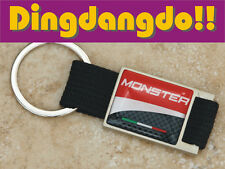 Monster Keyring Key Ring Fob Black and Alloy Gift fit for Ducati