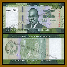 Years 2003-2011 Uncirculated Banknotes Set # 3 P-28 P-27 Liberia P-26