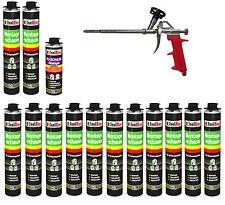 SET Pistolenschaum 13 x 750 ml + 1  Metall Schaumpistole + 1 Reiniger Bauschaum