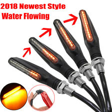 4x Flowing Universal Motorcycle Motorbike LED Turn Signal Indicator Light Amber