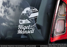Nigel Mansell - F1 Car Window Sticker - Helmet Formula 1 Ferrari Decal Sign -V01