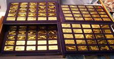 * Gorgeous - FRANKLIN MINT - PROOF - 24 kt GOLD on BRONZE - JANE'S AIRCRAFT Set