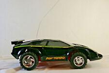 Vintage Tyco Turbo Hi-Jacker Lamborghini Black 9.6V RC Car And Remote UNTESTED